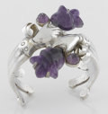 Silver Smalls:Other , A MEXICAN SILVER AND AMETHYST QUARTZ CUFF. William Spratling,Taxco, Mexico, circa 1935. Marks: WS, 980, TAXCO. 2-3/8 x...