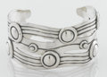 Silver Smalls:Other , A MEXICAN SILVER CUFF. Attributed to William Spratling, Taxco,Mexico, circa 1940. Marks: Mark is undecipherable. 2-5/8 inch...