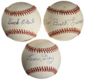 Autographs:Baseballs, Negro League Stars Single Signed Baseballs Lot of 3. ...
