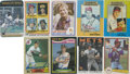 Autographs:Sports Cards, Baseball Stars Signed Trading Cards Group Lot of 79....