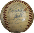 Autographs:Baseballs, 1948 Washington Senators Team Signed Baseball....