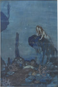 Mainstream Illustration, EDMUND DULAC (English/French 1862 - 1953). Ariel, Shakespeare'sComedy of the Tempest, book illustration, 1908. Mixed-me...