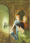 Pulp, Pulp-like, Digests, and Paperback Art, RUDY NAPPI (American b. 1923). Nancy Drew Mystery Stories #25,The Ghost of Blackwood Hall book cover, 1967. Gouache on ...(Total: 2 Items)