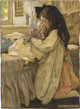 JESSIE WILLCOX SMITH (American 1863 - 1935) The Then Lover Mixed-media on board 21.5 x 15.5 in. Signed lower right