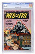 "Golden Age (1938-1955):Horror, Web of Evil #8 Davis Crippen (""D"" Copy) pedigree (Quality, 1953)CGC FN+ 6.5 Cream to off-white pages...."