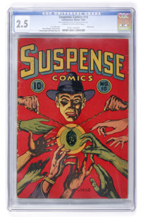 Suspense Comics #10 (Continental Magazines, 1945) CGC GD+ 2.5 Cream to off-white pages