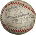 Autographs:Baseballs, 1943 New York Yankees Team Signed Baseball....