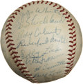 Autographs:Baseballs, 1959 Cleveland Indians Team Signed Baseball....