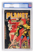 Golden Age (1938-1955):Science Fiction, Planet Comics #35 (Fiction House, 1945) CGC FN 6.0 Cream tooff-white pages....