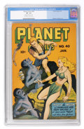 Golden Age (1938-1955):Science Fiction, Planet Comics #40 (Fiction House, 1946) CGC VF- 7.5 Off-white to white pages....