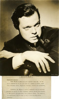 "Movie Posters:Drama, Orson Welles in ""Citizen Kane"" Portrait (RKO, 1941). Still (10.25"" X 13"").. ..."