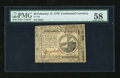 Colonial Notes:Continental Congress Issues, Continental Currency February 17, 1776 $2 PMG Choice About Unc58....