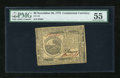 Colonial Notes:Continental Congress Issues, Continental Currency November 29, 1775 $6 PMG About Uncirculated55....