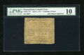 Colonial Notes:Pennsylvania, John Morton Signature Pennsylvania April 3, 1772 2s/6d PMG VeryGood 10....