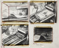 animation art:Production Drawing, Ben and Me Animation Storyboard Drawing Original Art(Disney, 1953)....