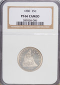 Proof Seated Quarters: , 1880 25C PR66 Cameo NGC. NGC Census: (16/20). PCGS Population(13/6). (#85581)...