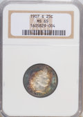 Barber Quarters: , 1907-S 25C MS65 NGC. NGC Census: (6/5). PCGS Population (11/8).Mintage: 1,360,000. Numismedia Wsl. Price for NGC/PCGS coin...