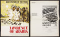 "Movie Posters:War, Lawrence of Arabia (Columbia, 1962). Pressbook and Insert (MultiplePages, 14"" X 17.5""). War.. ... (Total: 2 Items)"