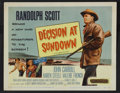 """Movie Posters:Western, Decision at Sundown (Columbia, 1957). Lobby Card Set of 8 (11"""" X 14""""). Western.. ... (Total: 8 Items)"""