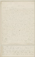 Autographs:Inventors, John Ericsson Autograph Letter Signed. Two pages, two-sided, n.p.,October 18, 1858. Swedish inventor and mechanical enginee...