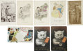 Political:Small Paper (1896-present), Woman's Suffrage: Eight Better Comic Cards.... (Total: 8 Items)