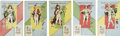 Political:Small Miscellaneous (1896-present), Woman's Suffrage: Five Suffragette Ticket Cards.... (Total: 5 Items)