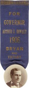 Political:Ribbons & Badges, William Jennings Bryan: 1906 Pennsylvania Governor Coat-Tail Badge....