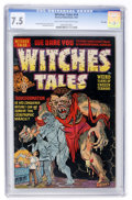 Golden Age (1938-1955):Horror, Witches Tales #14 File Copy (Harvey, 1952) CGC VF- 7.5 Light tan tooff-white pages....