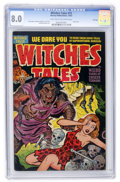 Golden Age (1938-1955):Horror, Witches Tales #15 File Copy (Harvey, 1952) CGC VF 8.0 Light tan tooff-white pages....