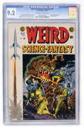 Golden Age (1938-1955):Science Fiction, Weird Science-Fantasy #27 (EC, 1955) CGC NM- 9.2 Off-white to white pages....