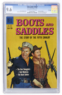 Four Color #1029 Boots and Saddles - File Copy (Dell, 1959) CGC NM+ 9.6 Off-white to white pages