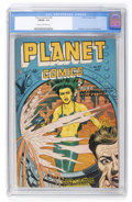 Golden Age (1938-1955):Science Fiction, Planet Comics #49 (Fiction House, 1947) CGC FN/VF 7.0 Cream tooff-white pages....