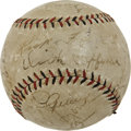 Autographs:Baseballs, 1930s Major League Stars Multi-Signed Baseball with Lou Gehrig....
