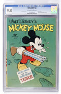 Golden Age (1938-1955):Cartoon Character, Four Color #27 Mickey Mouse (Dell, 1943) CGC VF/NM 9.0 Off-white towhite pages....