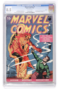 Marvel Comics #1 Denver pedigree (Timely, 1939) CGC VF+ 8.5 Off-white pages