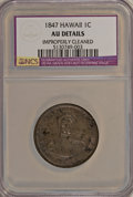 Coins of Hawaii: , 1847 1C Hawaii Cent--Improperly Cleaned--NCS. AU Details. NGCCensus: (5/141). PCGS Population (22/257). Mintage: 100,000. ...
