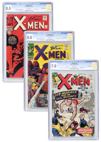 X-Men #6, 16, and 17 White Mountain pedigree Group (Marvel, 1964-66).... (Total: 3 Items)