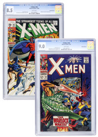 X-Men #30 and 63 White Mountain pedigree Group (Marvel, 1967-69).... (Total: 2 Items)