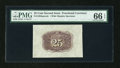Fractional Currency:Second Issue, Fr. 1283SP 25c Second Issue Wide Margin Back PMG Gem Uncirculated 66 EPQ....
