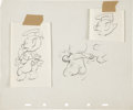 animation art:Production Drawing, The Thrifty Pig Model Drawing Original Art (Disney,1941)....