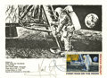 Autographs:Celebrities, Neil Armstrong Postcard Signed...