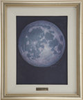 "Explorers:Space Exploration, Alan Bean Original Painting ""Apollo Moon"" with His Handwritten Provenance...."