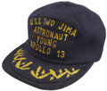 Explorers:Space Exploration, Apollo 13 Recovery Ship U.S.S. Iwo Jima Hat Directly from the Personal Collection of Backup Mission Commander John...