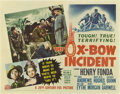 "Movie Posters:Western, The Ox-Bow Incident (20th Century Fox, 1943). Half Sheet (22"" X 28"").. ..."