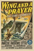 "Movie Posters:War, Wing and a Prayer (20th Century Fox, 1944). One Sheet (27"" X 41"")....."