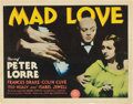 "Movie Posters:Horror, Mad Love (MGM, 1935). Title Lobby Card (11"" X 14"").. ..."