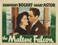 """Movie Posters:Film Noir, The Maltese Falcon (Warner Brothers, 1941). Lobby Card (11"""" X 14"""").. ..."""