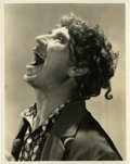 "Movie Posters:Comedy, Harpo Marx in ""Monkey Business"" by Gene Robert Richee (Paramount,1931). Autographed Still (8"" X 10"").. ..."