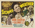 "Movie Posters:Musical, Stormy Weather (20th Century Fox, 1943). Title Card and Lobby Cards (3) (11"" X 14"").. ... (Total: 4 Items)"