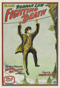 "Fighting Death (Box Office Attractions, 1914). One Sheet (27"" X 41"")"